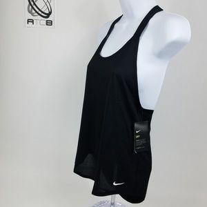 NWT Nike Womens Tank Size XS Black Racerback
